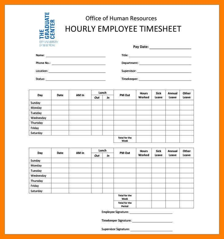 Free Printable Timesheets For Employees Free Printable Timesheet - hourly timesheet calculator