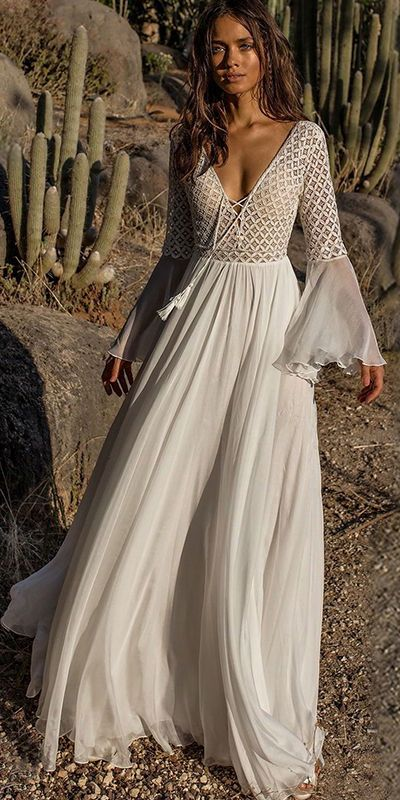 Presale V-neck Flared Sleeveless Maxi Dress