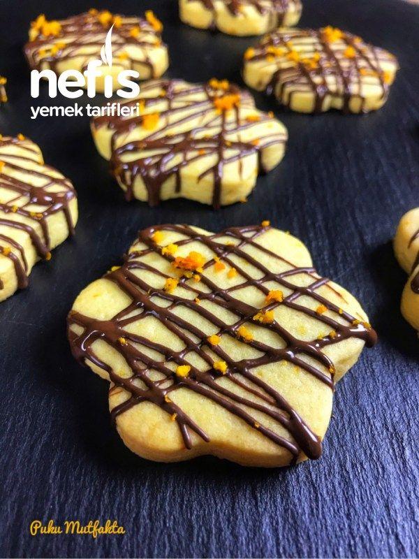Portakallı Ve Çikolatalı Kurabiye - Nefis Yemek Tarifleri - #6887924