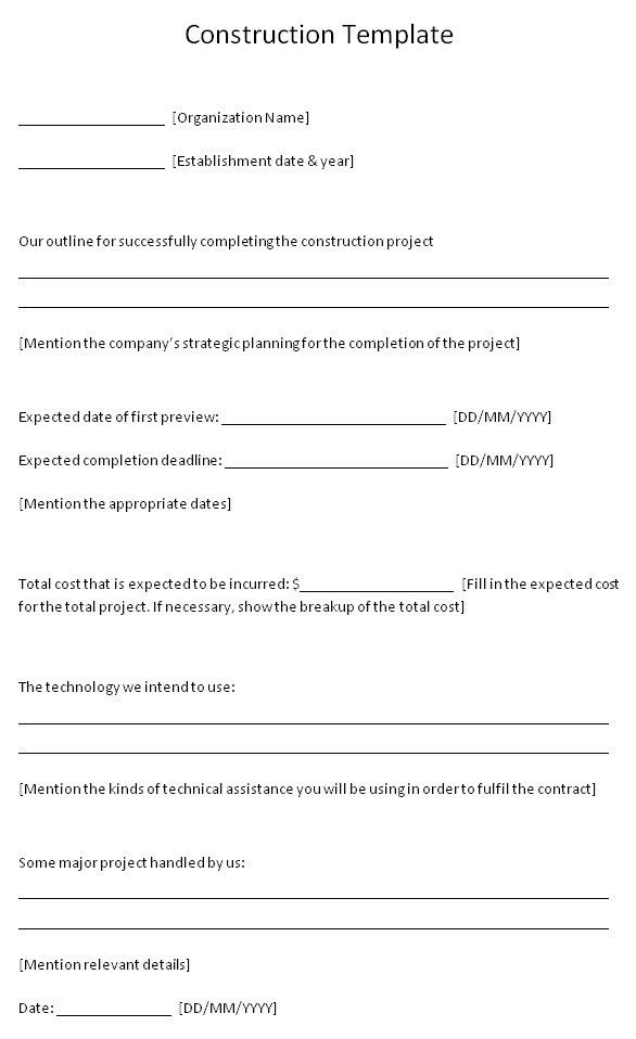 Blank Construction Contract Best 25 Construction Contract Ideas - roofing contract template