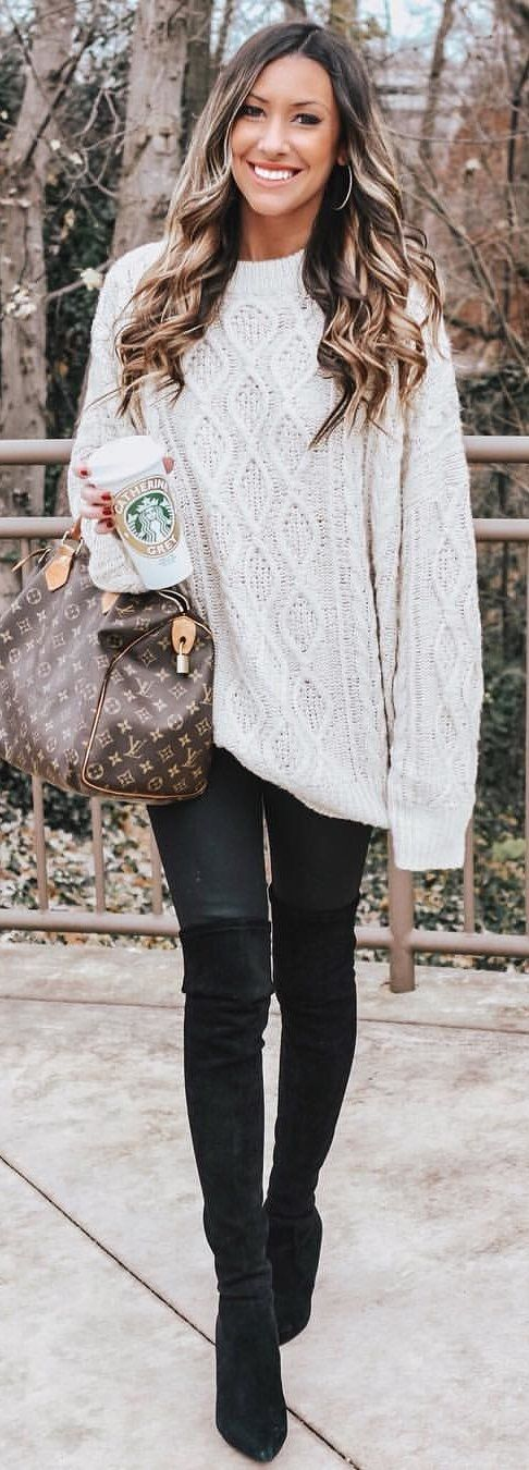 white long sleeve shirt #winter #outfits