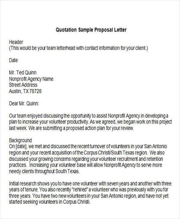Bid Proposal Letter Bid Proposal Template Invitation To Bid - non profit proposal template