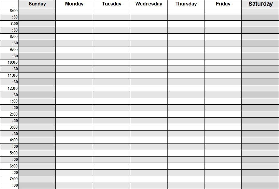 Daily Weekly Schedule Template Top 25 Best Daily Schedule - weekly agenda