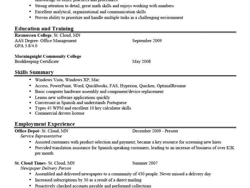 american career optimal resume