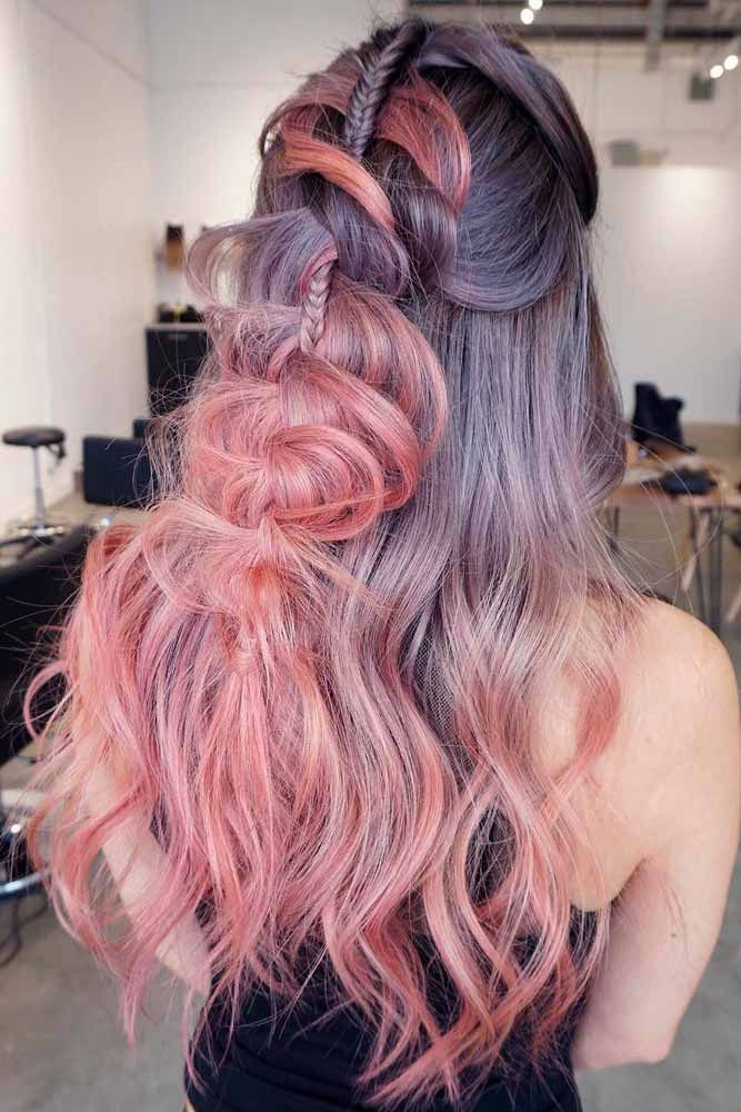Braided Half-Up Hairstyles #ombrehair #braidedhair ★  Discover trendy easy summer hairstyles 2019 here. We have pretty ideas for long, short, and for medium hair. #glaminati #lifestyle #summerhairstyles