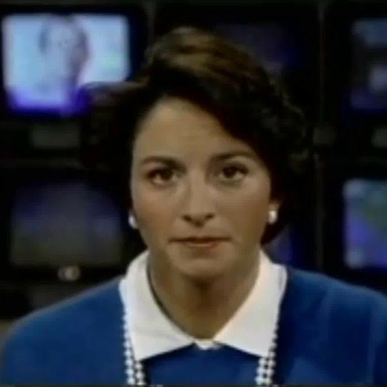 """a Photo of Jane Wallace anchoring """"CBS Early Morning News"""", Feb., 1985"""