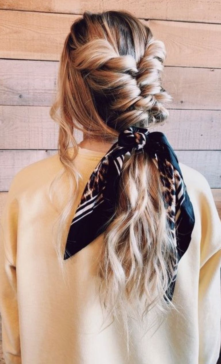 long blonde balayage hair ideas for spring break and summer | best summer blonde hair highlights inspiration | blonde ombre hair | twist French braid into a handkerchief ponytail | undone updos for long hair | baggy sweatshirt outfit for teens | comfortable everyday outfits for teens to wear to school | #ootd #outfits #balayage #blondebalayage #longhair #longhairupdo #updo #hairstyles #ombrehair