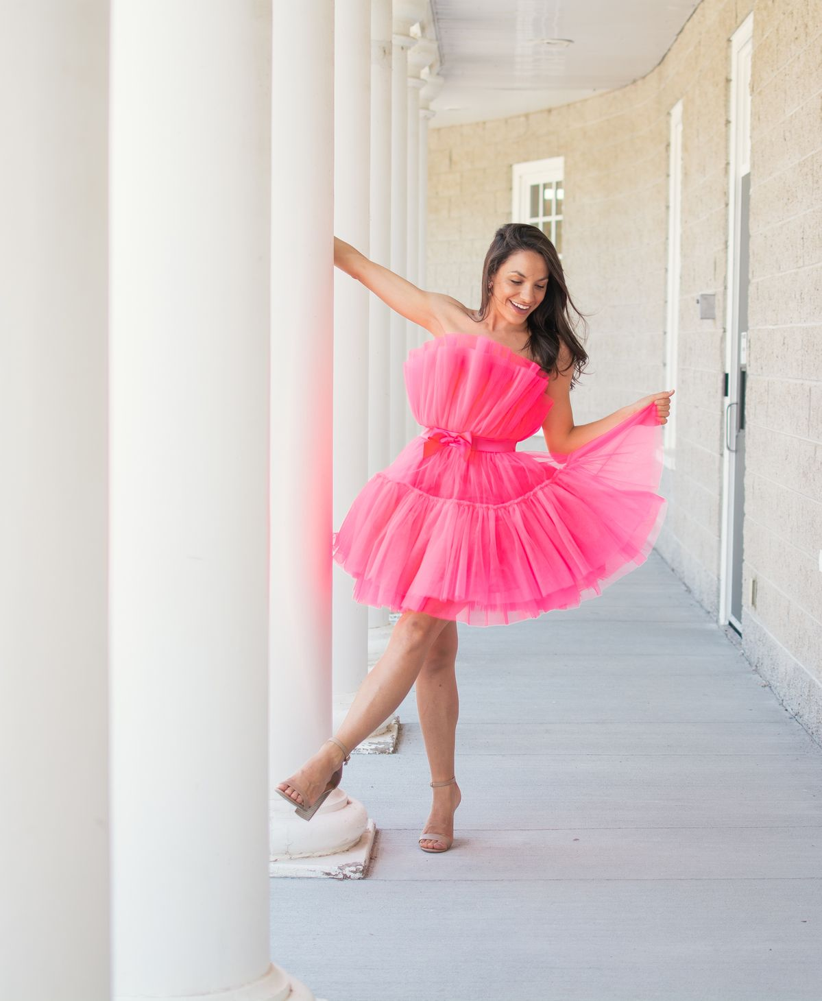 Barbie Inspired Dream Dress | The Pink Brunette