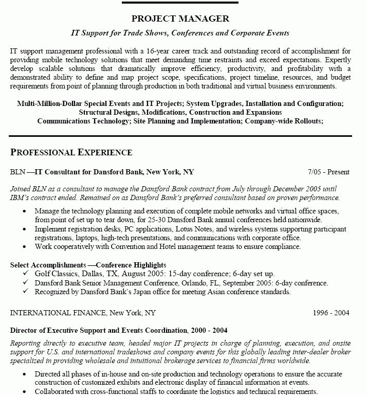 Wireless Project Manager Sample Resume Pmp Sample Resume Pmp Sample