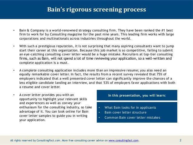 ... Consulting Cover Letter Bain Bain Cover Letter Sample, Bain Cover    Wedding Consultant Cover Letter ...