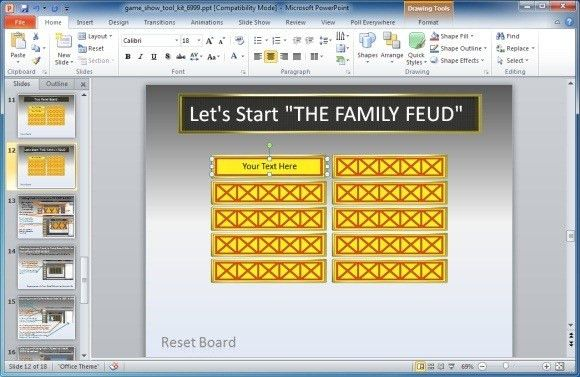 Family Feud Template Ppt 6 Free Family Feud Powerpoint Templates - family feud power point template