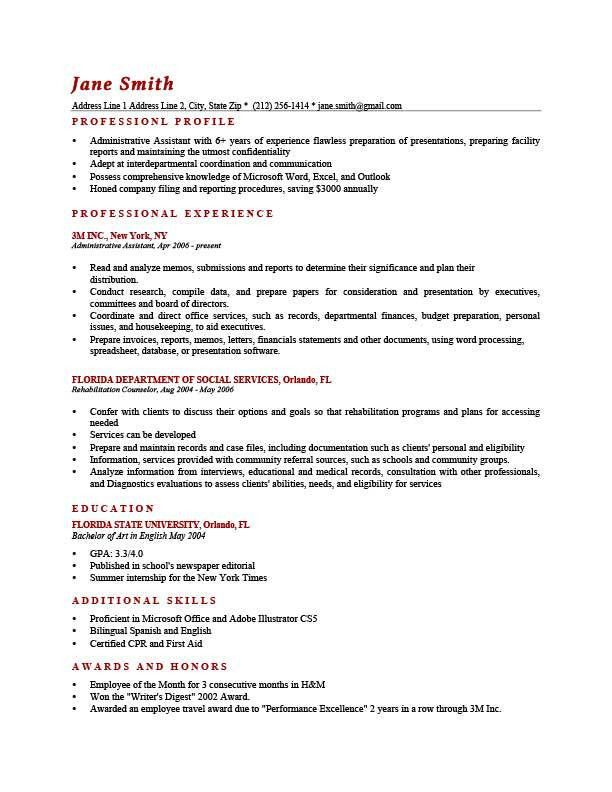 Personal Profile Example Personal Profile Statement On A Cv 8