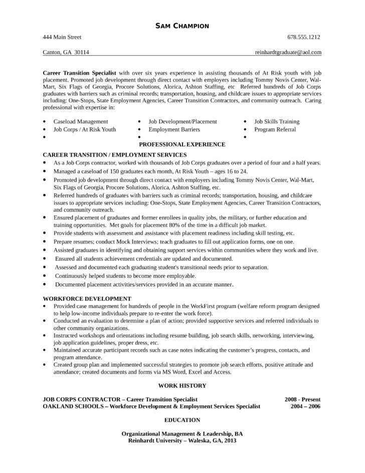career transition specialist cover letter cvresumecloudunispaceio - Transition Specialist Sample Resume