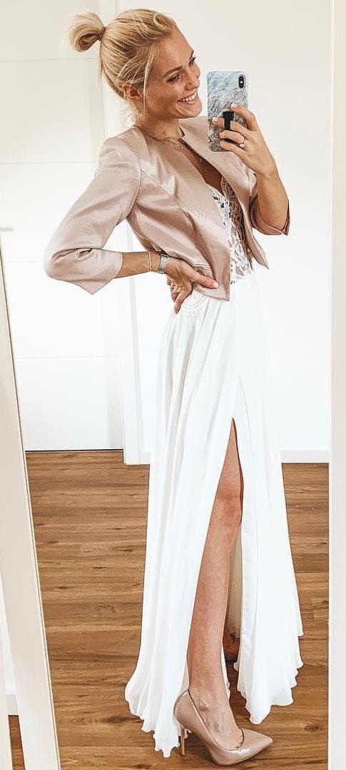 beige blazer #spring #outfits