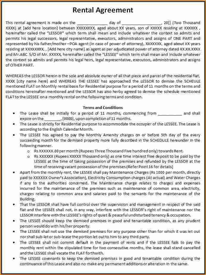 Free Printable Rental Agreement Template Free Rental Forms To - printable lease agreement sample