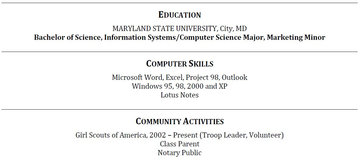 The Education Resume Education Section Example Education Section Resume  Writing Education Section Resume   Resume Examples