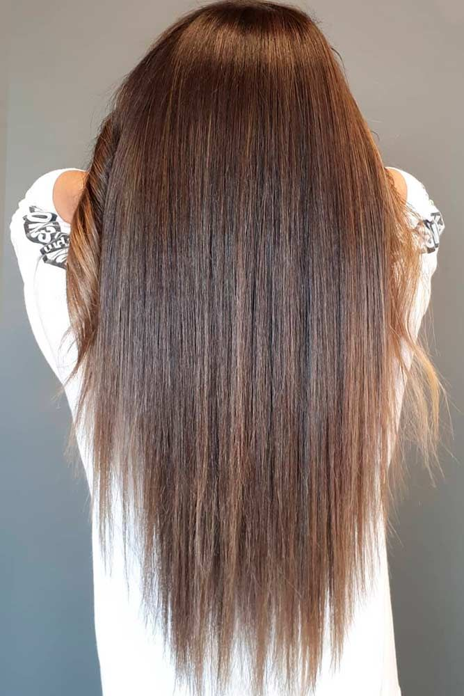 Long Hair With A Brown Color #brownhair #layeredhair ★ Explore tips on how to get straight hair. Our tips will work for short, medium, and long haircuts. Enhance the natural texture. #glaminati #lifestyle #straighthair