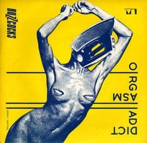 Original artwork for the Buzzcocks single  Orgasm Addict, 1977.