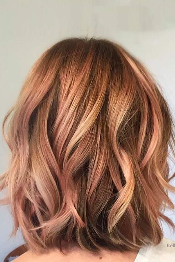Strawberry Fields Forever #layeredhair #wavyhairstyles ★ Light and dark brown hair with highlights and lowlights looks spectacular. Discover trendy color ideas for short and long hairstyles. #glaminati #lifestyle #brownhairwithhighlights