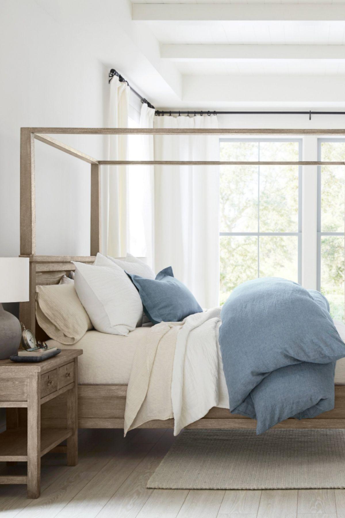 Farmhouse Belgian Flax Bedroom