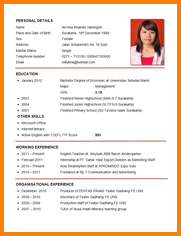 Resume Format Job Application Simple Job Resume Examples Perfect - examples of a perfect resume