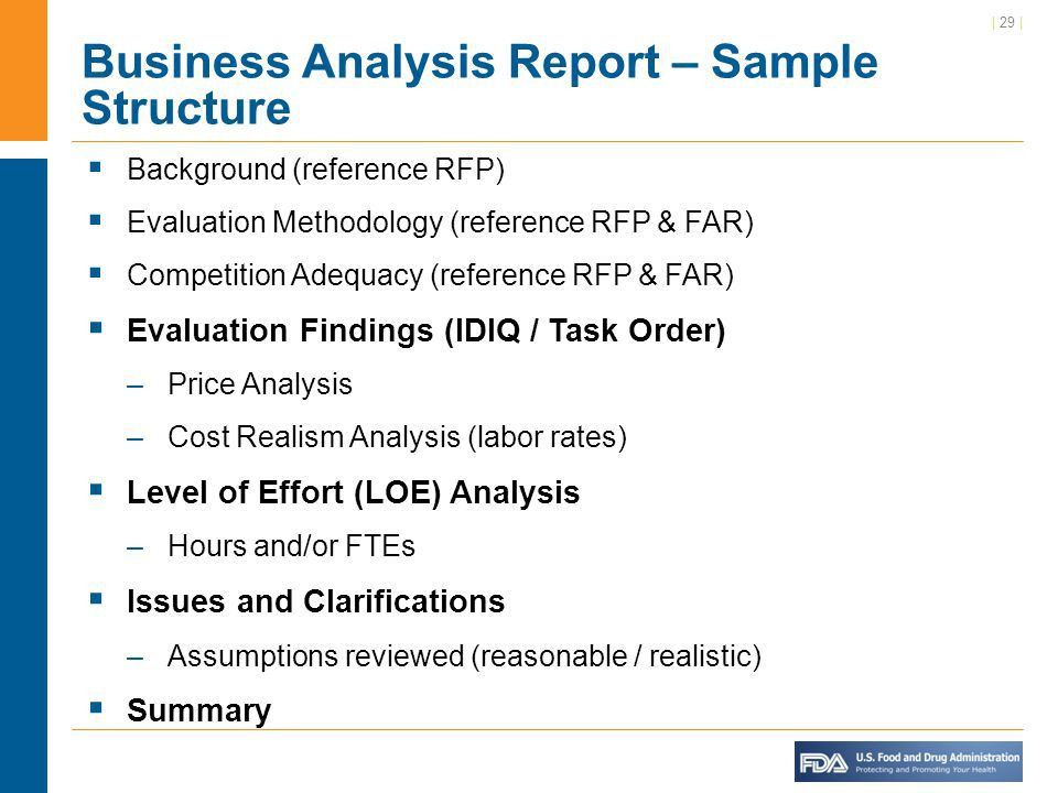 Business Analysis Report Example Sample Business Analysis Report - analysis report template