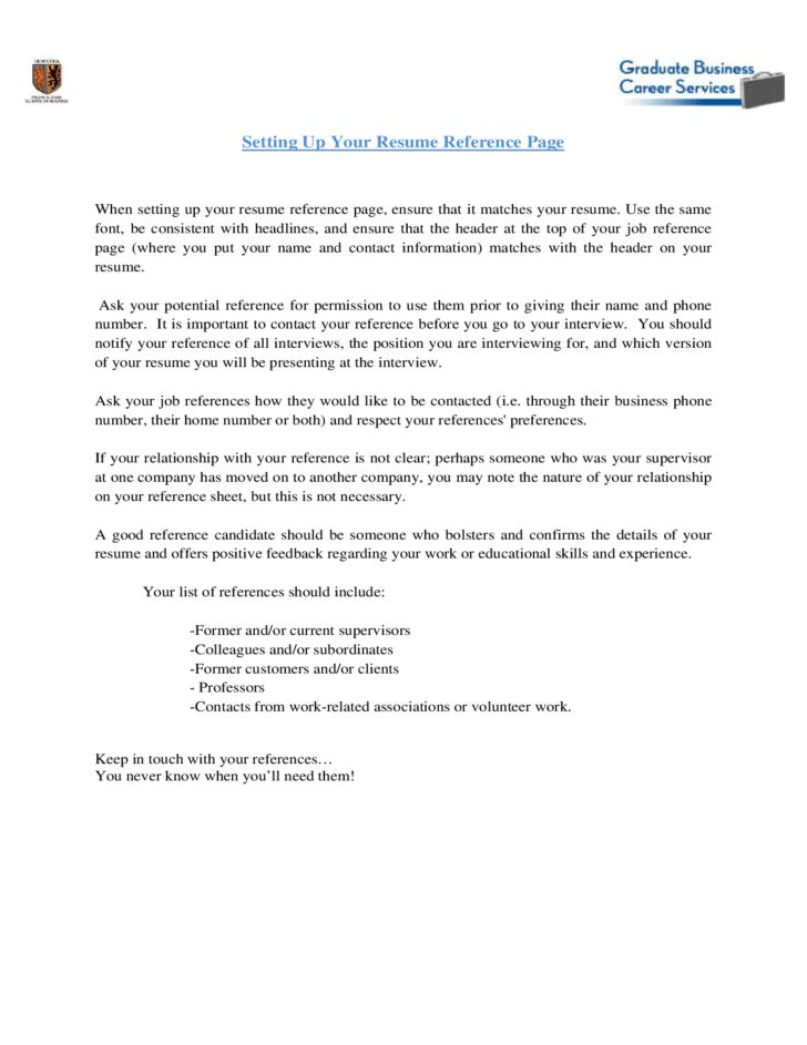 Reference Page For Resume Template Resume Reference Page Format  Resume Reference Page Format