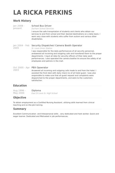 Bus Driver Resume Templates Idas Ponderresearch Co