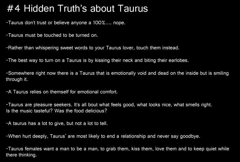 the gallery for gt taurus characteristics female
