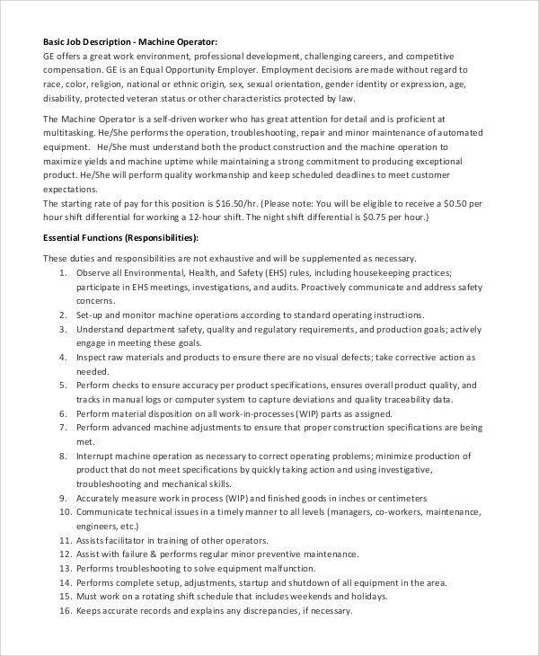 100+ Production Worker Job Description Resume - Stunning Duties Of - production supervisor job description