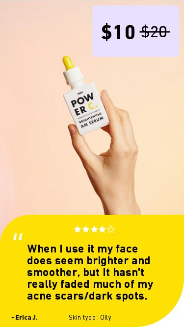Serum for acne scars for Oily skin. Shero Science skin care review. Power C Brightening Serum: It's pretty good!. When I use it my face does seem brighter and smoother, but It hasn't really faded much of my acne scars/dark spots.
