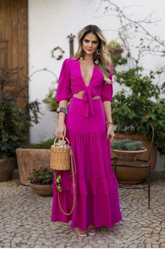Chic purple boho look