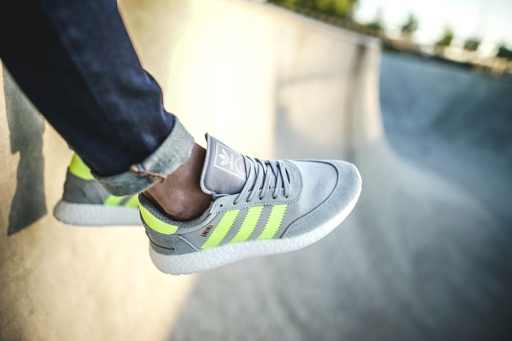 look for popular stores best price Adidas Iniki Runner Womens Clear Onix/Solar Yellow BB0001 in ...