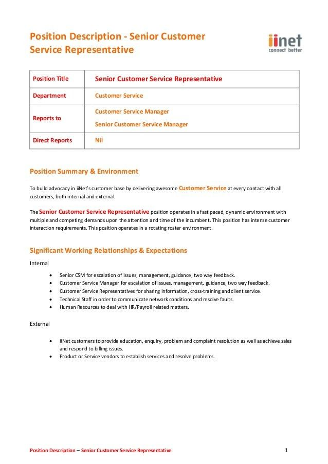 Customer Service Representative Duties Unforgettable Customer - customer service manager job description