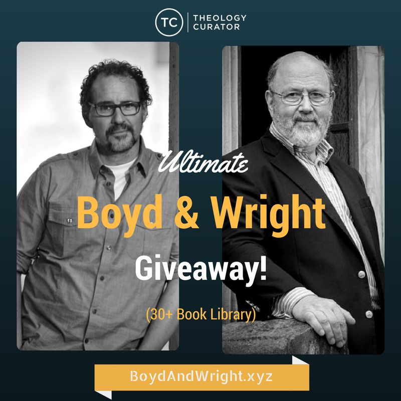 Kurt Willems is giving away 30+ books by Greg Boyd and N.T. Wright! I so want to win this. The biblical studies nerd in me needs this.