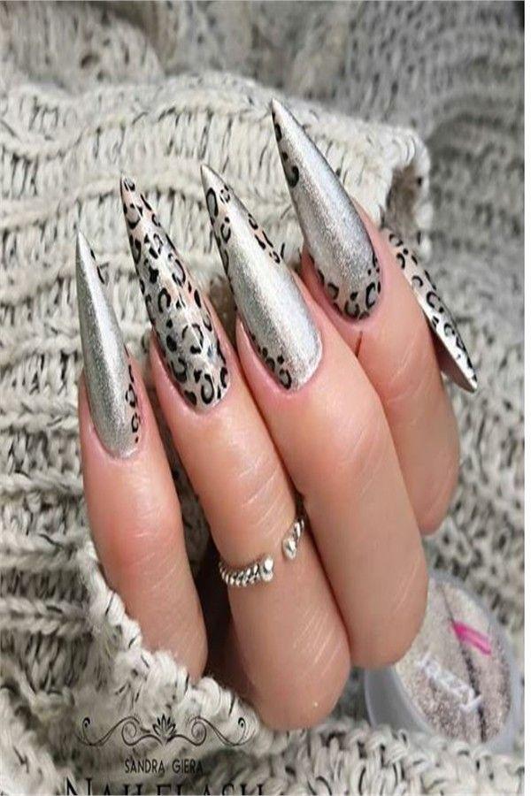 30+ Stunning Long Nail Art Designs Ideas 2019 – Fashonails #nail_art_designs #trendy_nails #long_nails