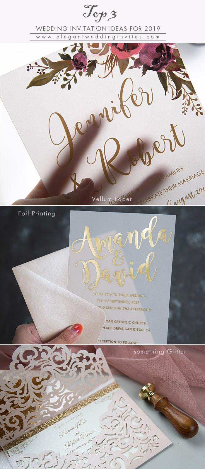 top 3 wedding invitation ideas for 2019 wedding trends