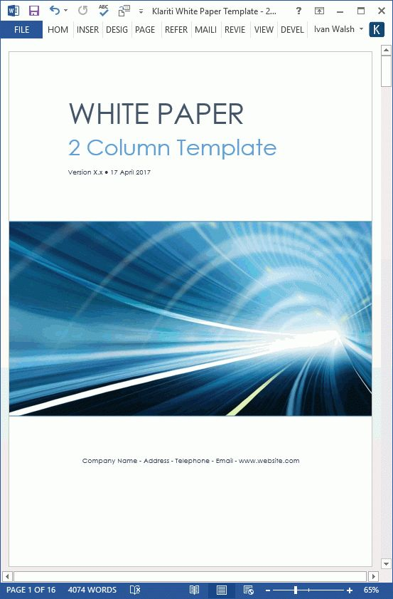 White Paper Template Simple Whitepaper Template Free Download - white paper templates