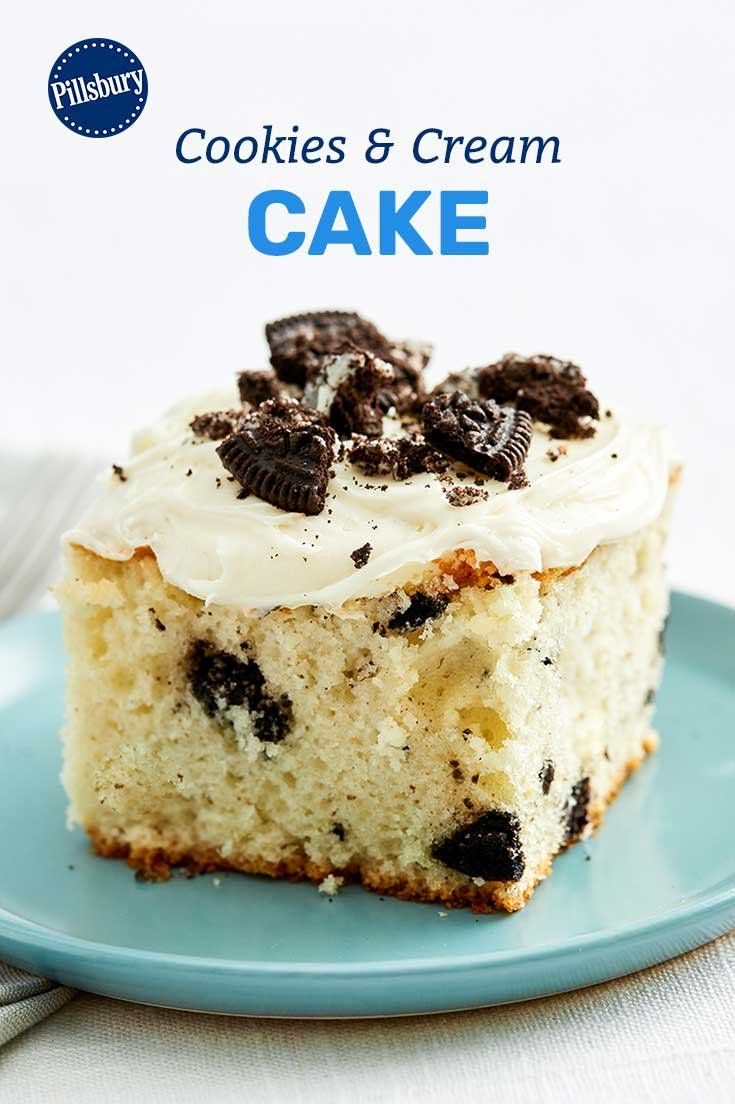 Need a crowd-sized dessert that'll please everyone's taste buds? This 5-ingredient cookies-and-cream cake is a go-to when you want to make sure everyone gives two thumbs up!
