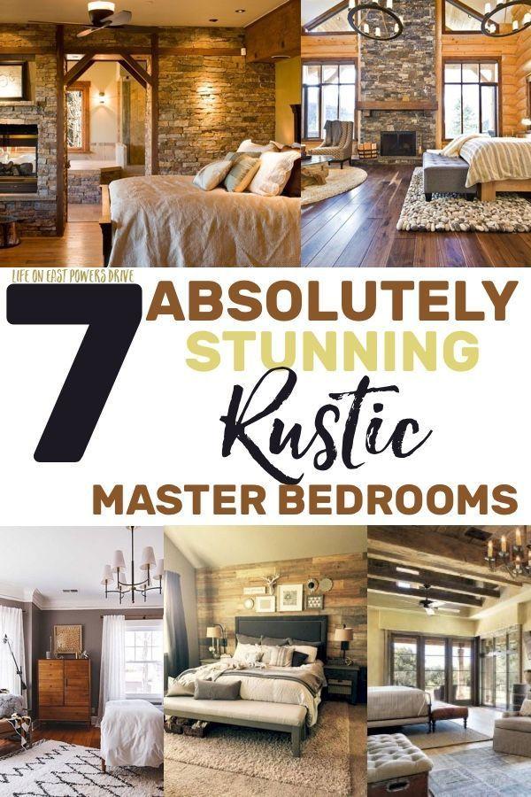 Rustic Master Bedroom Inspiration Ideas |
