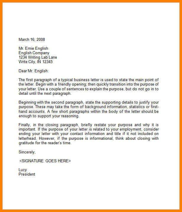 Opening A Business Letter Opening A Business Letter The Letter - professional business letter