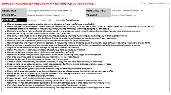 dairy farm manager sample resume cvresumeunicloudpl - Dairy Farm Manager Sample Resume