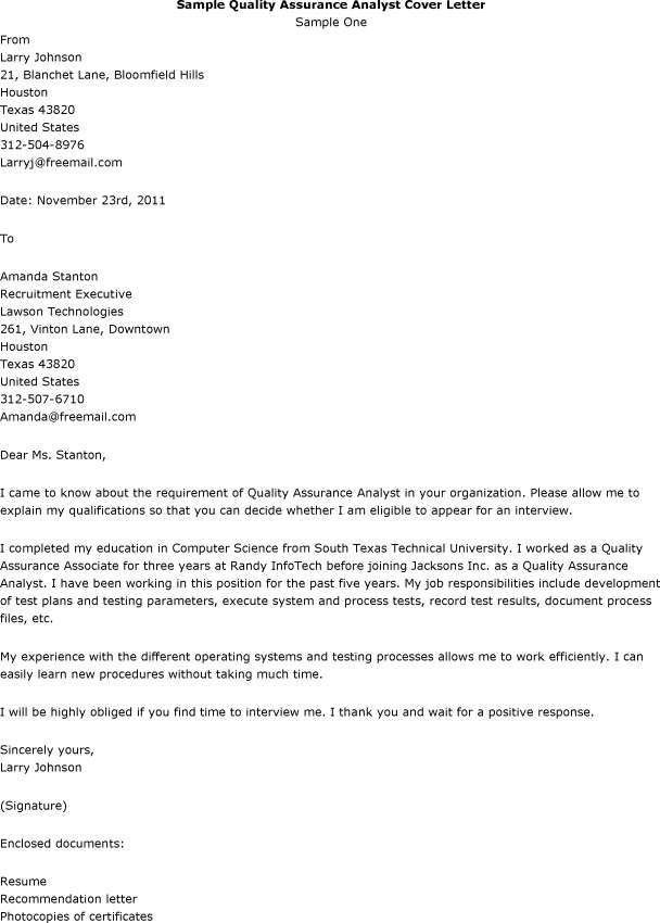 systems analyst cover letter samples - Military.bralicious.co
