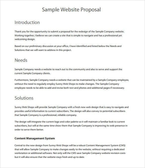 Formal proposal template insrenterprises formal proposal template pronofoot35fo Image collections