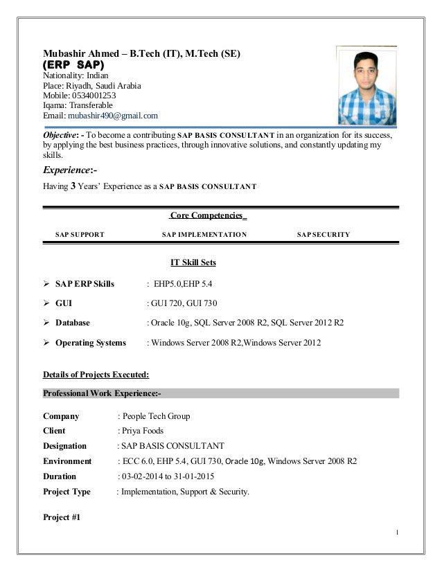 junior sap consultant resume junior sap consultant resume gsm