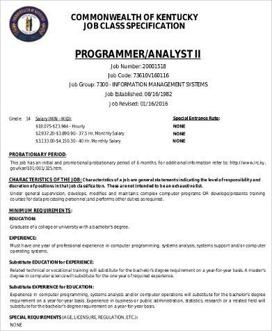 Computer Programmer Job Descriptions  Design Templates