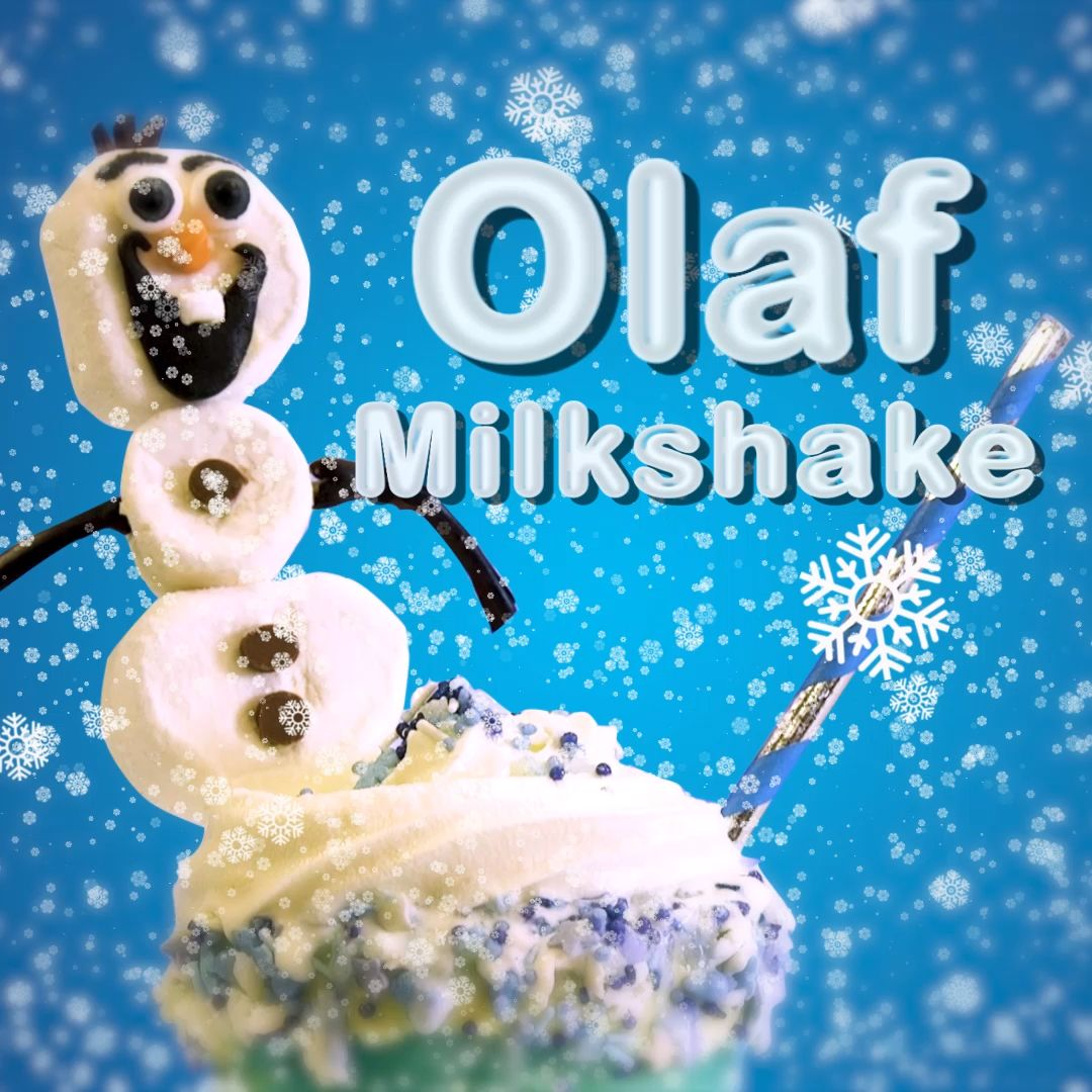 Celebrate the arrival of Frozen II with your kids and make an Olaf-themed milkshake