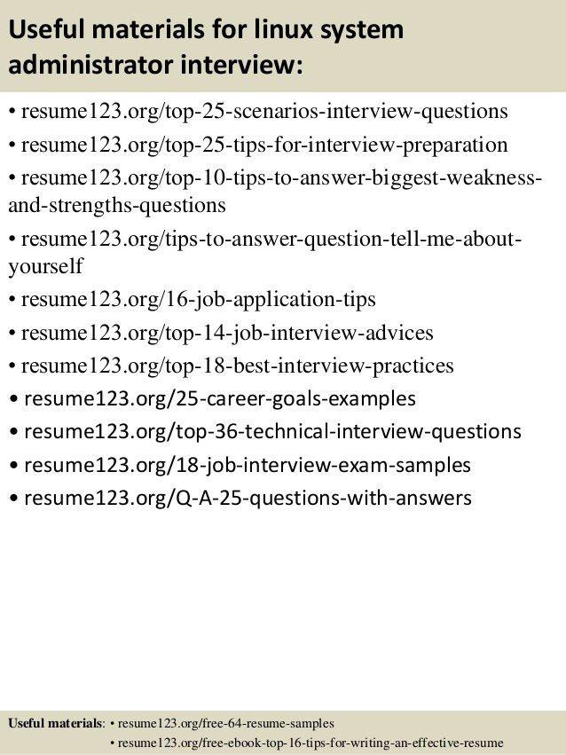 ... Linux System Administrator Job Description System Administrator   System  Administrator Resume Sample ...  Linux System Administrator Resume