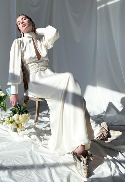 NIGHT OUT MAXI DRESS IVORY | Orseund Iris