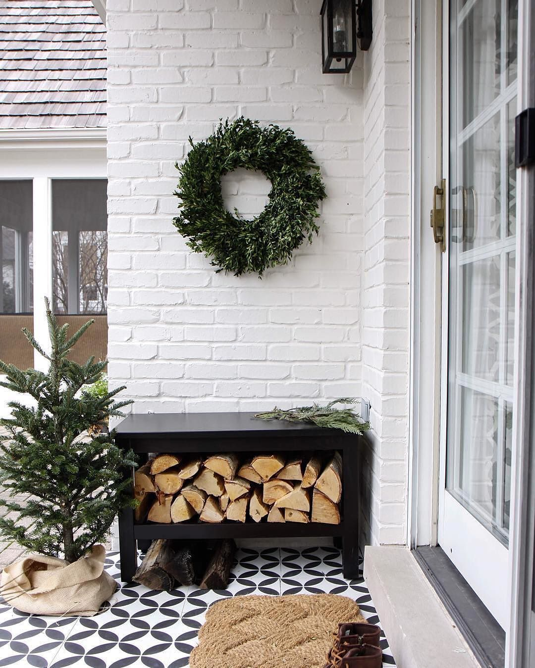 Welcome winter with warmth, cheer, and the coziness of a festive little outdoor nook. Shop this space -- link in profile. #myonepiece image @parkandoakdesign